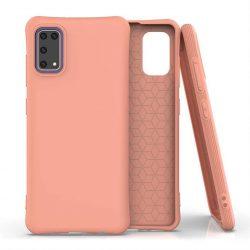 Puha színes tok rugalmas gél tok Samsung Galaxy A41 narancs telefontok