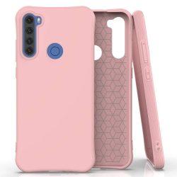 Puha színes tok rugalmas gél tok Xiaomi redmi Note 8T rózsaszín telefontok