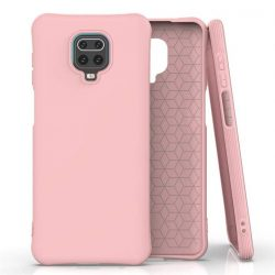 Puha színes tok rugalmas gél tok Xiaomi redmi Note 9 Pro / redmi Note 9s rózsaszín telefontok
