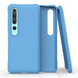 Puha színes tok rugalmas gél tok Xiaomi Mi 10 Pro / Xiaomi Mi 10 kék telefontok