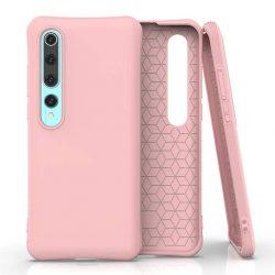 Puha színes tok rugalmas gél tok Xiaomi Mi 10 Pro / Xiaomi Mi 10 rózsaszín telefontok