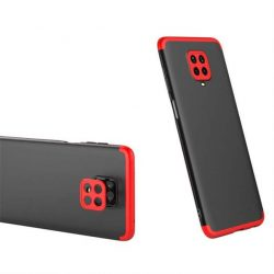 GKK 360 Protection tok Első és hátsó tok az egész testet fedő Xiaomi redmi Note 9 Pro / redmi Note 9s fekete-piros telefontok