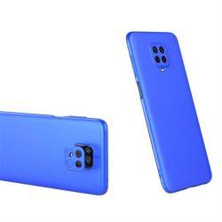 GKK 360 Protection tok Első és hátsó tok az egész testet fedő Xiaomi redmi Note 9 Pro / redmi Note 9s kék telefontok