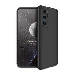 GKK 360 Protection tok Első és hátsó tok az egész testet fedő Huawei P40 fekete telefontok