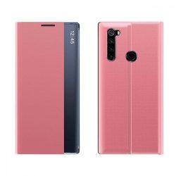 New Sleep Case típusú telefontok kitámasztó funkcióval Xiaomi redmi Note 8T rózsaszín telefontok