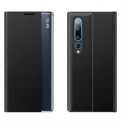 New Sleep Case típusú telefontok kitámasztó funkcióval Xiaomi Mi 10 Pro / Xiaomi Mi 10 fekete telefontok