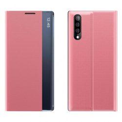New Sleep Case típusú telefontok kitámasztó funkcióval Samsung Galaxy A70 rózsaszín telefontok