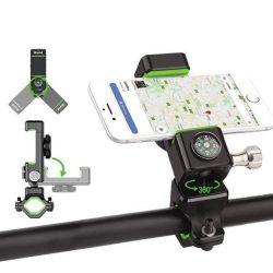 Állítható telefon kerékpáros foglalatot tartó kormányra a copass zöld