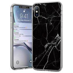 Wozinsky Marble TPU tok Xiaomi Mi 10 Lite fekete telefontok