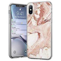 Wozinsky Marble TPU tok Xiaomi Mi Note 10 Lite rózsaszín telefontok