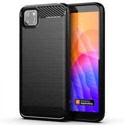 Carbon tok Rugalmas tok TPU tok Huawei Y5p fekete telefontok