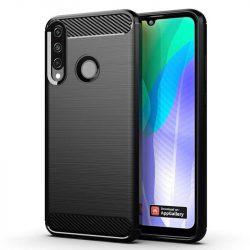 Carbon tok Rugalmas tok TPU tok Huawei Y6p fekete telefontok