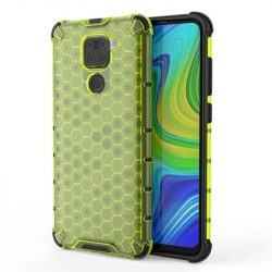 Honeycomb tok páncél telefontok TPU Bumper Xiaomi redmi 10X 4G / Xiaomi redmi Note 9 zöld telefontok