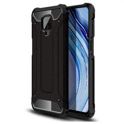 hybrid Armor tok Kemény telefontok Xiaomi redmi 10X 4G / Xiaomi redmi Note 9 fekete telefontok