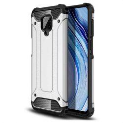 hybrid Armor tok Kemény telefontok Xiaomi redmi 10X 4G / Xiaomi redmi Note 9 ezüst telefontok