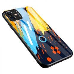 Színes üveg tok tartós edzett üveg tempered glass lap és a kamera telefontok Xiaomi redmi Note 9 Pro / redmi Note 9S minta 1 telefontok