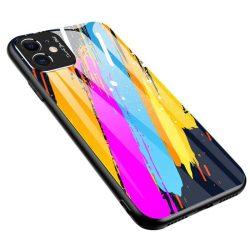 Színes üveg tok tartós edzett üveg tempered glass lap és a kamera telefontok Xiaomi redmi Note 9 Pro / redmi Note 9S minta 3 telefontok
