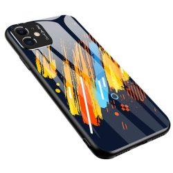 Színes üveg tok tartós edzett üveg tempered glass lap és a kamera telefontok Xiaomi redmi Note 9 Pro / redmi Note 9S minta 5 telefontok