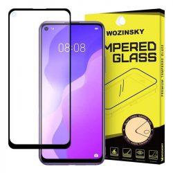 Wozinsky edzett üveg tempered glass FullGlue Super Tough képernyővédő fólia teljes képernyős kerettel tok barát Huawei P40 Lite 5G / Huawei Nova 7 SE fekete üvegfólia