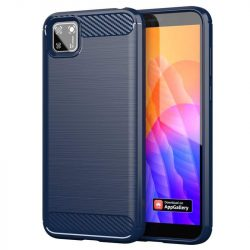 Carbon tok Rugalmas tok TPU tok Huawei Y5p kék telefontok