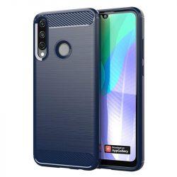 Carbon tok Rugalmas tok TPU tok Huawei Y6p kék telefontok