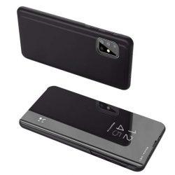 Clear View tok Samsung Galaxy A71 4G és 5G fekete telefontok SM-A716 / SM-A715