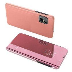 Clear View tok Samsung Galaxy A71 5G rózsaszín telefontok
