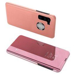 Clear View tok Samsung Galaxy A21S rózsaszín telefontok