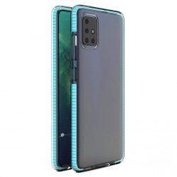 Spring tok világos TPU gél védőburkolat színes kerettel Samsung Galaxy A21S világoskék telefontok