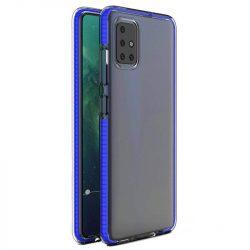 Spring tok világos TPU gél védőburkolat színes kerettel Samsung Galaxy A21S kék telefontok
