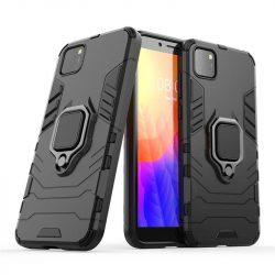 Ring Armor tok kitámasztható Kemény tok Huawei Y5p fekete telefontok