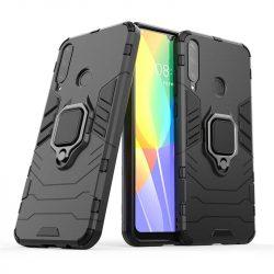 Ring Armor tok kitámasztható Kemény tok Huawei Y6p fekete telefontok