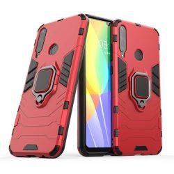 Ring Armor tok kitámasztható Kemény tok Huawei Y6p piros telefontok