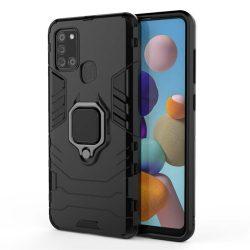 Ring Armor tok kitámasztható Kemény tok Samsung Galaxy A21S fekete telefontok