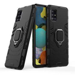 Ring Armor tok kitámasztható Kemény tok Samsung Galaxy A51 5G fekete telefontok