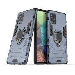 Ring Armor tok kitámasztható Kemény tok Samsung Galaxy A71 5G kék telefontok