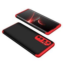Wozinsky Mágneses Cam Slider tok egész testet fedő beépített elülső üveg lencse rotector a Xiaomi Mi 10 Lite fekete-piros telefontok