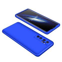 Wozinsky Mágneses Cam Slider tok egész testet fedő beépített elülső üveg lencse rotector a Xiaomi Mi 10 Lite blue telefontok