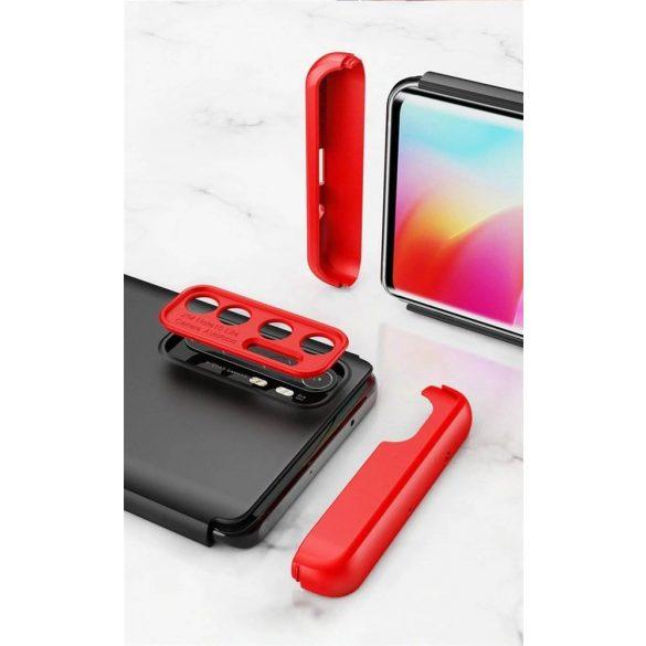 Wozinsky Mágneses Cam Slider tok egész testet fedő beépített elülső üveggel és kameranecsevédővel a Xiaomi Mi 10 Lite blue telefontok