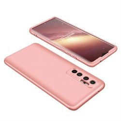 Wozinsky Mágneses Cam Slider tok egész testet fedő beépített elülső üveg lencse rotector a Xiaomi Mi 10 Lite rózsaszín telefontok