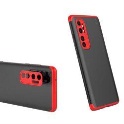 GKK 360 Protection tok Első és hátsó tok az egész testet fedő Xiaomi Mi Note 10 Lite fekete-piros telefontok