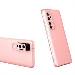 GKK 360 Protection tok Első és hátsó tok az egész testet fedő Xiaomi Mi Note 10 Lite rózsaszín telefontok