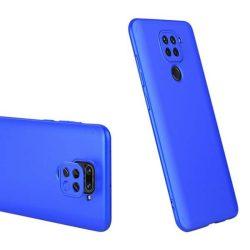 GKK 360 Protection tok Első és hátsó tok az egész testet fedő Xiaomi redmi 10X 4G / Xiaomi redmi Note 9 kék telefontok