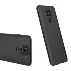 GKK 360 Protection tok Első és hátsó tok az egész testet fedő Xiaomi redmi 10X 4G / Xiaomi redmi Note 9 fekete telefontok