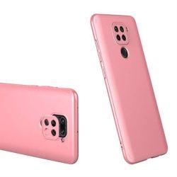 GKK 360 Protection tok Első és hátsó tok az egész testet fedő Xiaomi redmi 10X 4G / Xiaomi redmi Note 9 rózsaszín telefontok