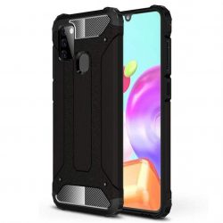 hybrid Armor tok Kemény tok Samsung Galaxy A21S fekete telefontok