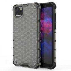 Honeycomb tok páncél telefontok TPU Bumper Huawei Y5p fekete telefontok