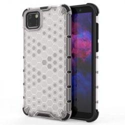 Honeycomb tok páncél telefontok TPU Bumper Huawei Y5p átlátszó telefontok
