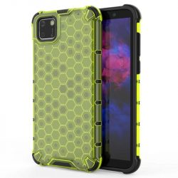Honeycomb tok páncél telefontok TPU Bumper Huawei Y5p zöld telefontok