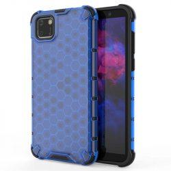 Honeycomb tok páncél telefontok TPU Bumper Huawei Y5p kék telefontok